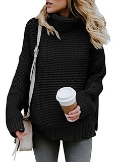 Looking for Asvivid Womens Turtleneck Long Sleeve Chunky Knit Pullover Sweater Tops ? Check out our picks for the Asvivid Womens Turtleneck Long Sleeve Chunky Knit Pullover Sweater Tops from the popular stores - all in one. Plus Size Sweaters, Long Sweaters, Pullover Sweaters, Sweaters For Women, Knit Sweaters, Black Sweaters, Oversized Sweaters, Oversized Cardigan, Sweater Coats