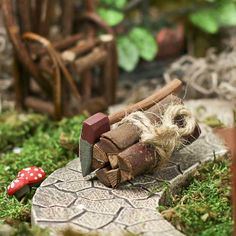 Miniature+Bundle+of+Wood+with+Axe