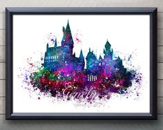 Harry Potter Hogwarts Castle Watercolor Art Poster Print, Harry Potter Hogwarts Castle Poster, Harry Potter Hogwarts Castle, Watercolor Art, Harry Potter Illustration, Wall Art, Artwork, Gift, Home Decor  Paper: Epson Heavy Weight High Quality Paper  Ink: High Quality Epson ink for vibrant prints Various dimensions offered to fit standard photo frame sizes.  Check out other Harry Potter listings here: https://www.etsy.com/uk/shop/GenefyPrints?section_id=17904862&...