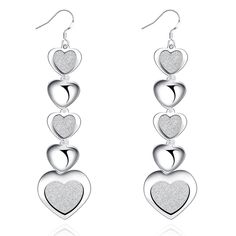 New, Infinity Hearts Drop Earrings for Women. Made to last a lifetime, these hypoallergenic earrings are perfect for any occasion. Product Details: Infinity Hearts Drop Earrings for Wome. Silver Drop Earrings, Pendant Earrings, Heart Earrings, Sterling Silver Earrings, Women's Earrings, Silver Bracelets, 925 Silver, Silver Jewelry, Fashion Earrings