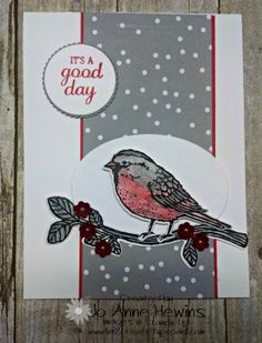 by Jo Anne: Best Birds Bundle, A Little Foxy dsp stack, Layering Circles & Ovals framelits - all from Stampin' Up!