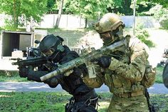 Polish Special Forces JW GROM members at a media demonstration in may 2011.