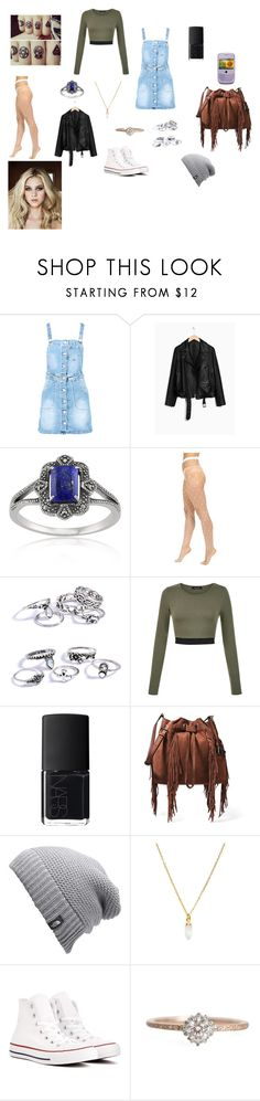 """""""First Day of School"""" by evangalina on Polyvore featuring Boohoo, Lazuli, Wolford, NARS Cosmetics, Diane Von Furstenberg, The North Face, South Moon Under and Converse"""