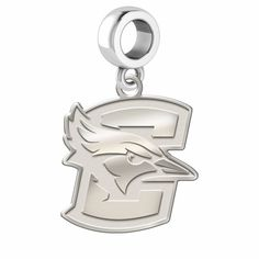 c7de1ca14 Creighton Blue Jays Sterling Silver Logo Cutout Dangle Charm with Natural  Finish Fits All Pandora Style