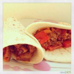 La dieta ALEA -  blog de nutrición y dietética, trucos para adelgazar, recetas para adelgazar: Burritos Mejicanos