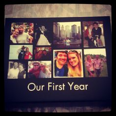 cute one year anniversary gift - perhaps expand to make highlights of each year as a page in a scrapbook?