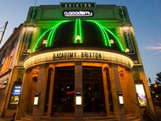 Academy Brixton is an internationally renowned, Grade II listed, award-winning concert venue hosting live music, club nights, comedy shows and more with visitors travelling from all over the world Brixton Academy, Uk Music, British Invasion, Urban Landscape, New Artists, Dream Vacations, Night Life, Places To See, Britain