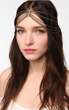 ...For all those Gypsie/BoHo/Hippie Chickies: Goddess Chain Headwrap by @Ashley Urban Outfitters