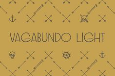 Vagabundo light is a hand brushed typeface. You can combine different weights with icons, ornaments and banners to get a... Best Cursive Fonts, Hand Lettering Fonts, Typography Fonts, All Fonts, Fat Font, Light Font, Writing Fonts, Letter Form, Retro Font