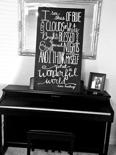 Reserved Chalkboard What a Wonderful World Sign