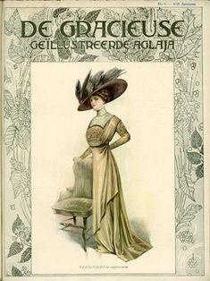 De Gracieuse April 1909, Edwardian Fashion Plate