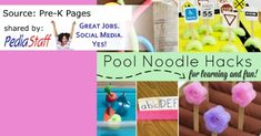 Summertime Tx Fun: 20+ Ideas for Pool Noodles- pinned by @PediaStaff – Please Visit  ht.ly/63sNt for all our pediatric therapy pins
