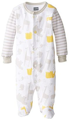 Kushies UnisexBaby Newborn Front Snap Sleeper Light Grey Light Grey Premie -- Check out the image by visiting the link. (This is an affiliate link) #BabyBoySleepwearRobes