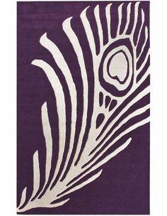 Purple Peacock Rug