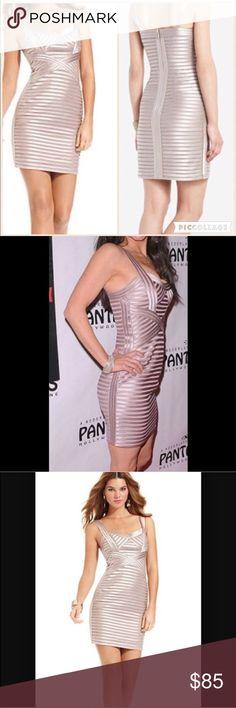 BCBG bandage dress Mint condition. Color: champagne BCBG Dresses
