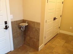 Drinking Fountain in Mud room