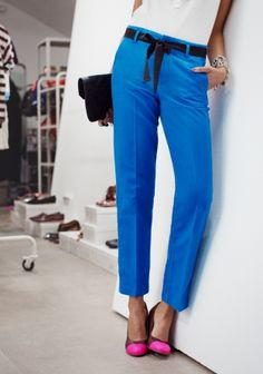 Linen Trousers | Blue | & Other Stories