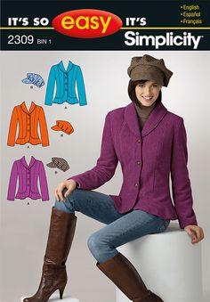 Pattern Reviews> Simplicity> 2309 (It's So Easy Misses' Jacket & Hat)