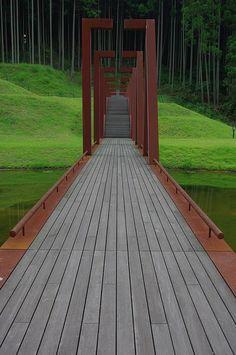 Muro Sanjo Park, Nara, Japan by mizuk@ Urban Landscape, Landscape Design, Garden Design, Landscape Structure, Detail Architecture, Landscape Architecture, Garden Paths, Garden Landscaping, Pathways