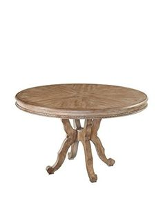 Bassett Mirror Co Galliano Dining Table Pecan