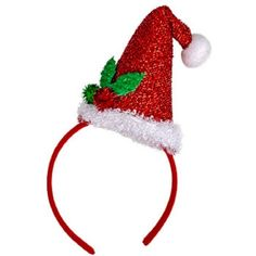 Christmas House Mens Glittery Santa Hat Headband with Holly One Size... ($7.69) ❤ liked on Polyvore featuring men's fashion, men's accessories, men's hats, mens alice band, mens hats, mens caps and mens caps and hats