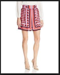 Anna Sui Cat Print Skirt