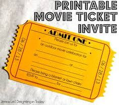 Captivating So Cute   Check Out This Free Printable Movie Ticket Invite. Use These  Tickets To Make Your Outdoor Movie Viewing Special And Exciting! With Movie Ticket Invitations Template