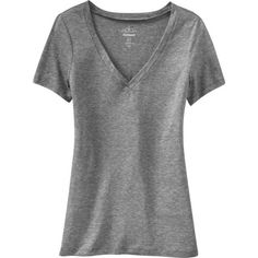 Old Navy Relaxed V Neck Tee ($8) ❤ liked on Polyvore featuring tops, t-shirts, shirts, tees, grey, women, v neck tee, grey v neck t shirt, grey t shirt and t shirts