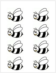 Bumble Bee Template Printable 8 - 403 X 520 Bumble Bee Wings, Bumble Bees, Preschool Crafts, Crafts For Kids, Bee Crafts, Bee Template, Bee Activities, Friendship Activities, Bee Art
