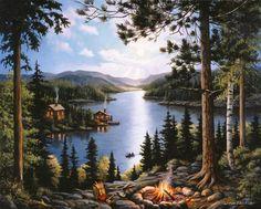 Cabin In The Woods via MuralsYourWay.com