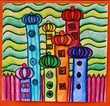 Hundertwasser buildings. Love the color intensity!