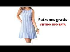 DIY Cómo hacer VESTIDO TIPO BATA corte y confección - YouTube Diy Vestido, Dresses For Work, Summer Dresses, Refashion, Sewing, Clothes, Youtube, Academia, Men's Shirts