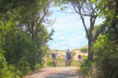 Bicyling On Bald Head Island 6 by Cathy Lindsey Bald Head Island, Bald Heads, Digital Art, Design Inspiration, Wall Art, Artist, Artwork, Painting, Layout Inspiration