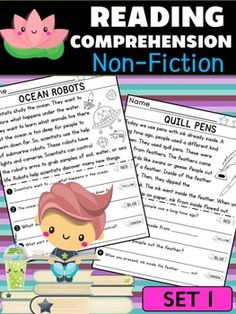 Lotus Reading Comprehension - Non Fiction : SET 1 - Passages and Questions Second Grade Math, First Grade, Reading Passages, Reading Comprehension, Little Lotus, Guided Reading, Social Studies, Teacher Pay Teachers, Nonfiction