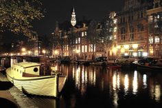 Amsterdam canal @ night | by GSAndré