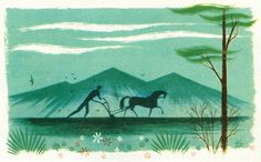 Newhouse Design: Photo  Farmer, from Voices of America, illus by Robert J. Lee, 1957