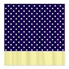 Navy Blue Yellow w Dots Shower Curtain blue quatrefoil pattern  I want Quatrefoil