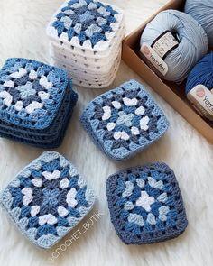 Transcendent Crochet a Solid Granny Square Ideas. Inconceivable Crochet a Solid Granny Square Ideas. Motifs Granny Square, Granny Square Crochet Pattern, Crochet Squares, Crochet Blanket Patterns, Knitting Patterns, Granny Squares, Crochet Quilt, Crochet Blocks, Crochet Motif