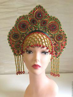 Russian Traditional Dress, Traditional Dresses, Russian Hat, Russian Fashion, Headdress, Headpiece, Crown Pattern, Fashion Accessories, Fashion Jewelry