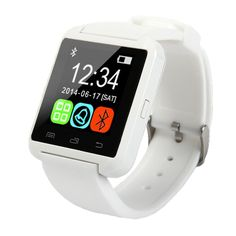 Flormoon Smartwatch U8 Wrist Watch Phone Watches for ios,Android and Samsung Smartphones in White. Stress busting U8 smartwatch to help you chill. Support hands-free calls,Answer or Dial calls from your wrist. Two way Anti-lost: When cellphone left watch alarm automatically, after a certain distance to avoid lose the phones. Ring or Shake reminder when your Android 2.3 or above smart phone receive a message(including Wechat,Facebook,Twitter,WhatsApp,Skype etc.). Awesome...