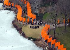 Christo and Jeanne-Claude, 'The Gates', Central Park, 2005  Saw it in person, great installation