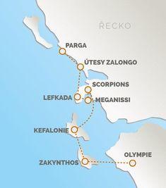 Olympia, Student, Map, Greece, Corfu, Cards, Maps