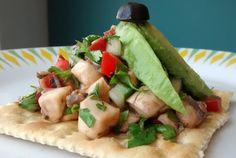 Mexican Vegan: Ceviches y postre para el calor (Ceviche de champinones)