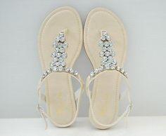 BN Flat T Strap Thong Slingback Sandals Gray Beige orPink | eBay_$23.99_Rosee