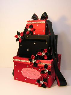 Hey, I found this really awesome Etsy listing at http://www.etsy.com/listing/176591718/black-and-red-wedding-card-box-gift-card