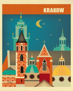 Krakow wall art is available in an array of finishes, materials, and sizes, this retro inspired wall art will make Krakow feel close to your heart with its bright color palette and unique design. You