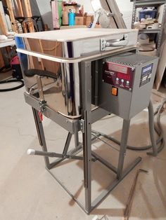 Dana Worley, Fused Glass Designs- Cress GK2 drop-bottom kiln for combing