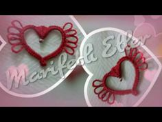 Mekik Oyası Kalp Yapılışı 💕 💕 💕 - YouTube Needle Tatting, Needle Lace, Tatting Jewelry, Embroidery Designs, Handmade, Jewellery, Youtube, Craft, Bias Tape