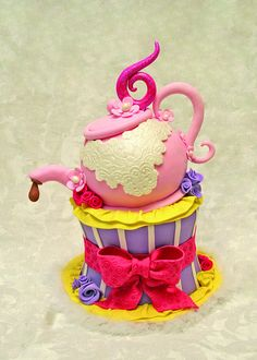 Fancy Nancy tea party cake