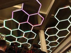 Bleeker St. subway station ceiling.